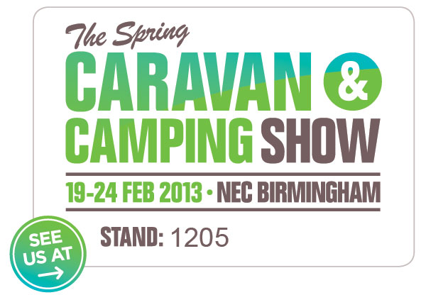 Freedomis stand at NEC Spring Caravan and Camping Show