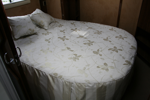 caravan or motorhome bed linen throw